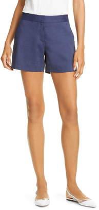 Theory Lynie R High Waist Linen Blend Shorts