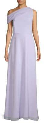 Kay Unger One-Shoulder Floor-Length Gown