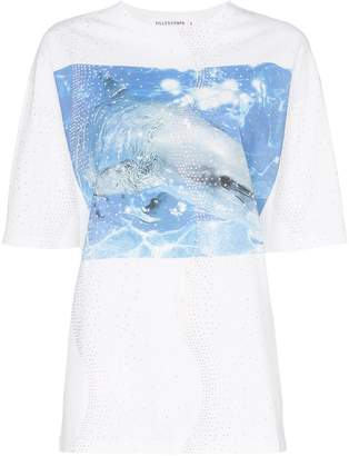 Filles a papa Dolphin print cotton T-shirt