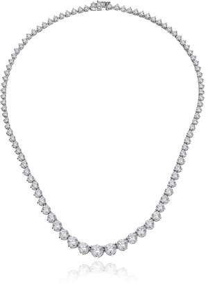 Swarovski Amazon Collection Platinum Plated Sterling Silver Riviera Necklace set with Graduated Round Cut Zirconia (20.75 cttw), 17""