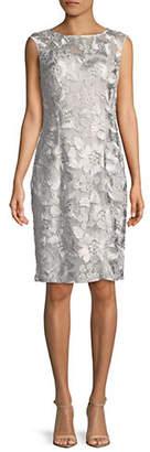 Alex Evenings Sleeveless Lace Sheath Dress