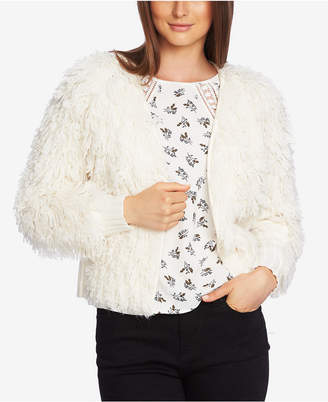 1 STATE 1.state Textured-Knit Open-Front Cardigan