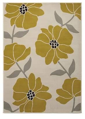 Homemaker Yellow Floral Rug
