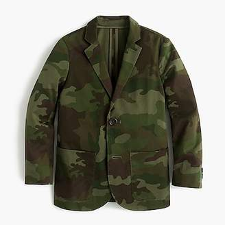 J.Crew Boys' unstructured Ludlow jacket in camo