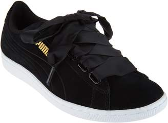 Puma Suede Lace-up Sneakers - Vikky Ribbon
