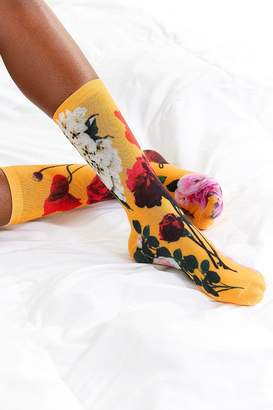 Out From Under Exploded Floral Crew Sock