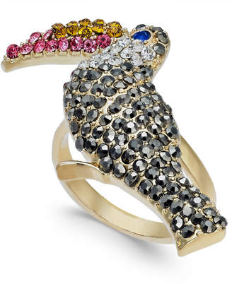 INC International Concepts I.N.C. Gold-Tone Crystal Pavé Tucan Statement Ring, Created for Macy's