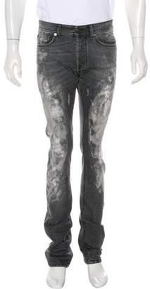 Versace Linen-Blend Skinny Jeans