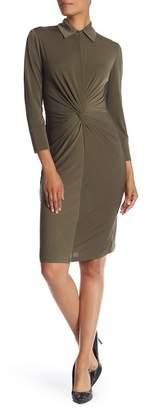 Taylor Front Twist Midi Dress