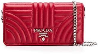 Prada Diagramme quilted mini bag