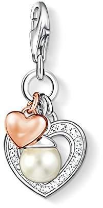 Thomas Sabo Charm pendant hearts with pearl white 0937-426-14 Thomas Sabo u8C1s