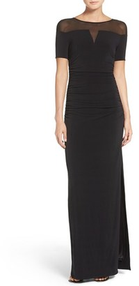 Women's Laundry By Shelli Segal Illusion Gown $245 thestylecure.com