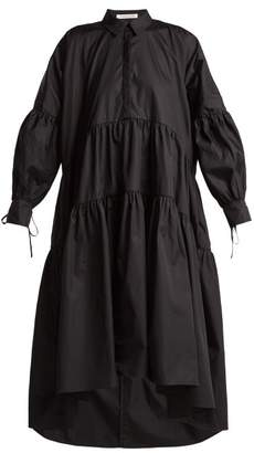 Cecilie Bahnsen - Cleo Oversized Cotton Dress - Womens - Black