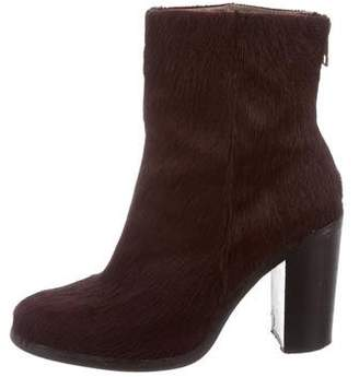 AllSaints Ponyhair Round-Toe Ankle Boots