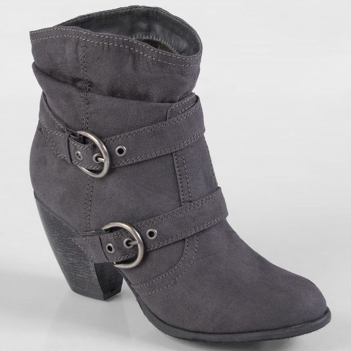 Journee Collection jenny slouch moto boots - women