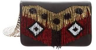 Les Petits Joueurs Mini Embellished Leather Crossbody Bag