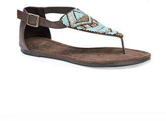Muk Luks Women's Zena Flat Sandal