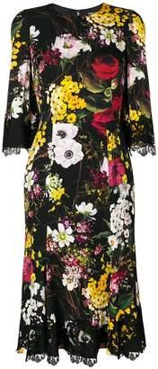 Dolce & Gabbana lace detail floral dress