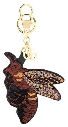 Gucci Embroidered bag charm
