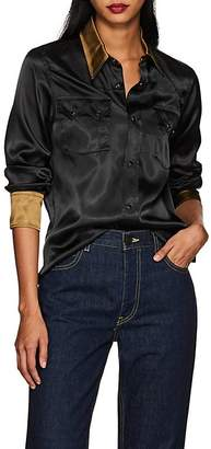 THE GIGI Women's Veta Satin Western Blouse