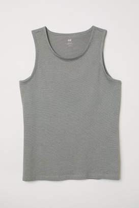 H&M Cotton Jersey Tank Top - Gray