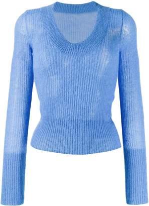 Jacquemus ribbed round neck sweater