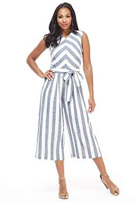 de7046ee6474 Maggy London womens s Molly Jumpsuit 4 Navy White