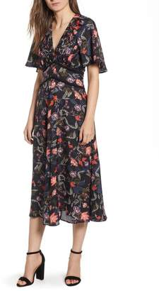 Chelsea28 Ruched Bodice Midi Dress