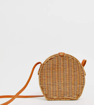 Ellen & James isla handmade straw cross body bag