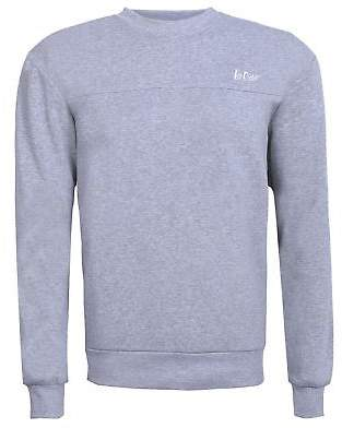 Lee Cooper Mens Fleece Crew Sweater Jumper Pullover Long Sleeve Neck
