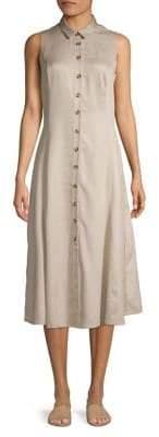 Lori Michaels Sleeveless Midi Shirt Dress