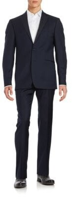 Calvin Klein Trim-Fit Two-Button Wool Suit
