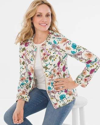Chico's Chicos Twill Grommet-Detail Jacket