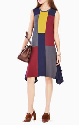 BCBGMAXAZRIA Katya Colorblocked Sweater Dress