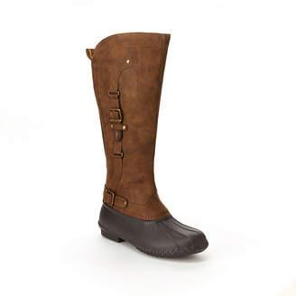 Jambu J Sport By Womens Colorado Water Resistant Flat Heel Zip Rain Boots