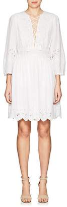 Ulla Johnson Women's Ailey Embroidered Cotton-Linen Dress