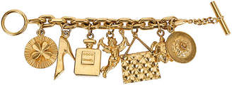 One Kings Lane Vintage Chanel Icons Charm Bracelet