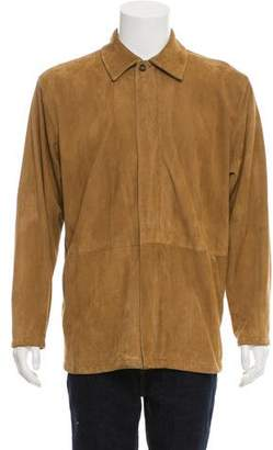 Zegna Sport Suede Zip-Up Jacket
