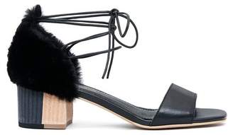 Kelsi Dagger Brooklyn Sam Leather & Faux Fur Sandal
