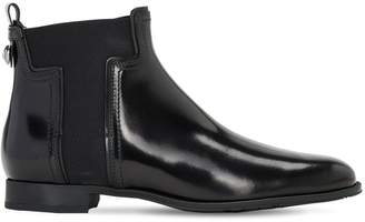 Tod's 20mm Leather Beatle Ankle Boots