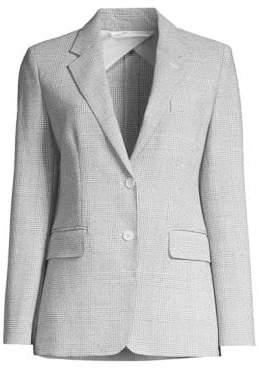 Max Mara Kent Two-Button Plaid Jacket