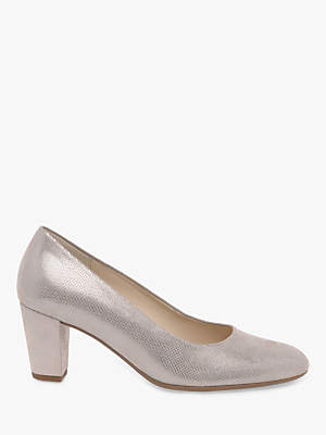 2f38578407d at John Lewis and Partners · Gabor Ruthin Wide Fit Block Heel Court Shoes