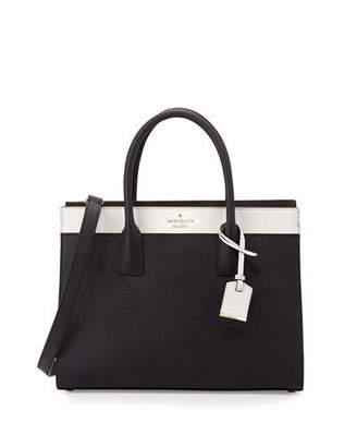 Kate Spade New York Cameron Street Candace Satchel Bag, Black/Cement $378 thestylecure.com