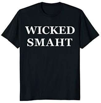 Boston Wicked Smaht Smart Funny Massachusetts T-Shirt Chowda