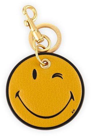 Anya HindmarchAnya Hindmarch Wink Leather Key Ring, Yellow