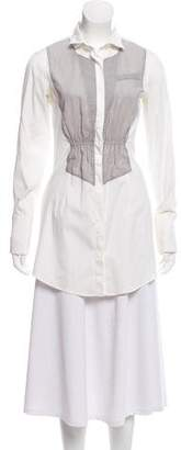 Brunello Cucinelli Button-Up Long Sleeve Top