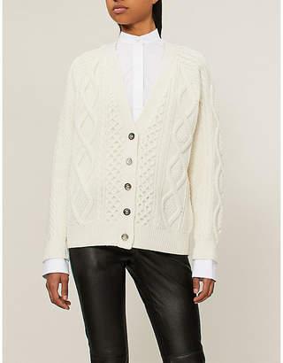3.1 Phillip Lim Aran cable-knit wool cardigan
