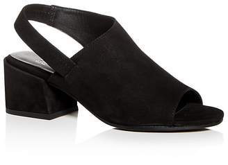 Eileen Fisher Women's Tumbled Nubuck Leather Slingback Block-Heel Sandals