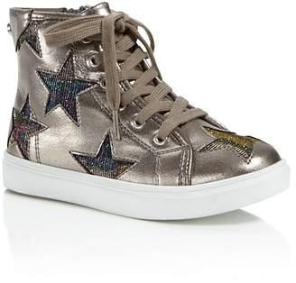 STEVE MADDEN Girls' Star Cutout High-Top Sneakers - Little Kid, Big Kid $60 thestylecure.com