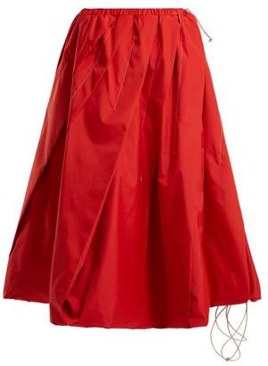 Marni Pleated Technical Skirt - Womens - Red